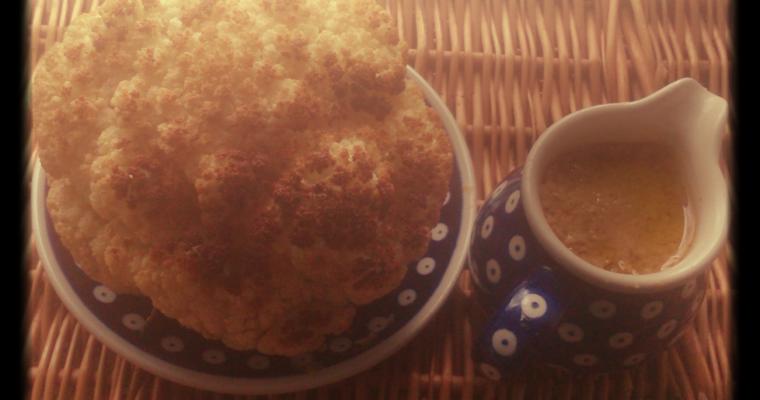 Kalafior z tahiną z olejem rzepakowym