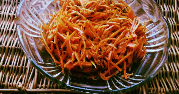 Pikantna marchewka po koreańsku