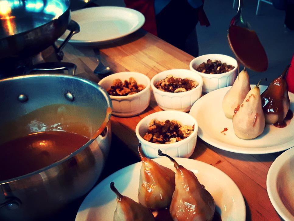 Gruszki w karmelu nadziewane orzechami