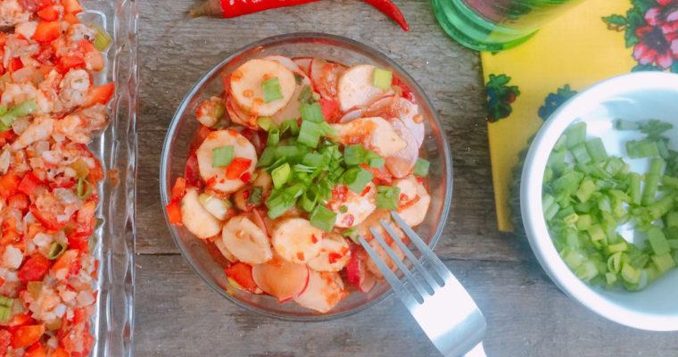 Surówka z topinamburem i rzodkiewką w stylu kimchi