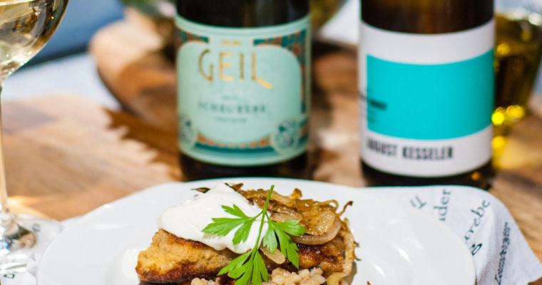 Obiad na Boże Narodzenie z niemieckim winem