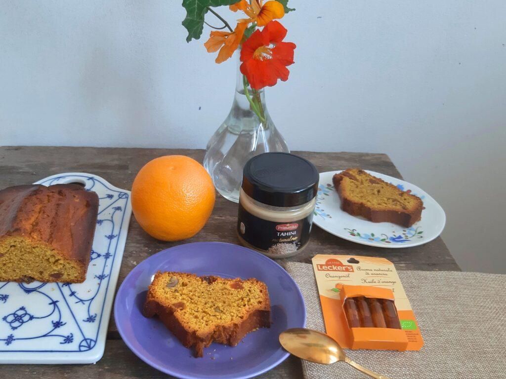 Ciasto pomarańczowe z tahiną