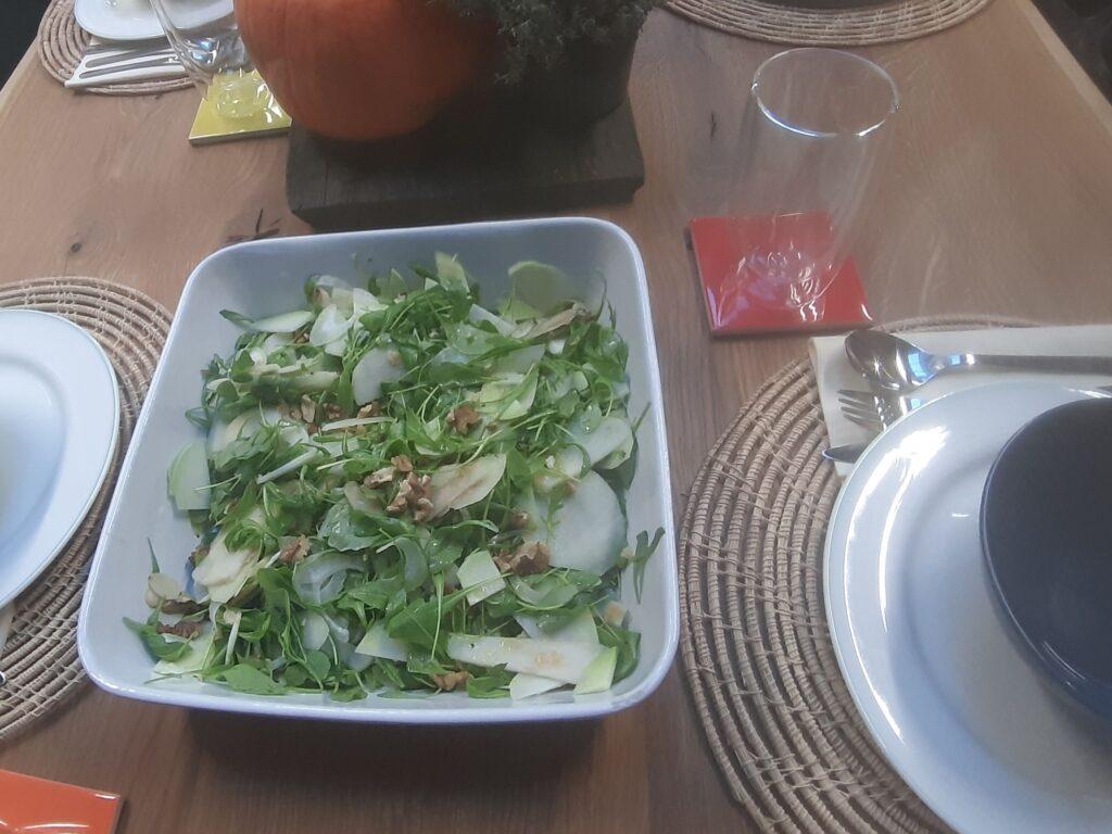 Sałatka z rukoli i gruszki